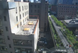 MSA NYC Architects - High Line Rooftop Addition Construction
