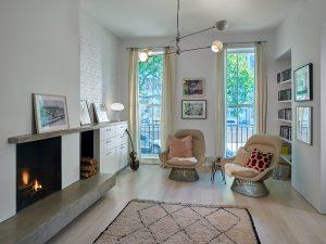 Dean Street Brownstone Renovation Living Room