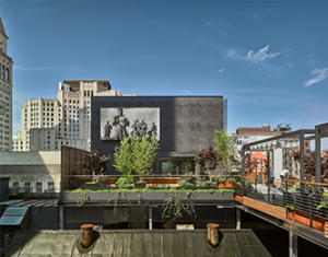 Park Avenue South Rooftop Garden Projection Movie Screen
