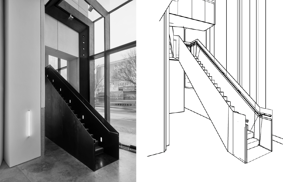 3D Modeling for Architects in NYC - Gallery Staircase Image